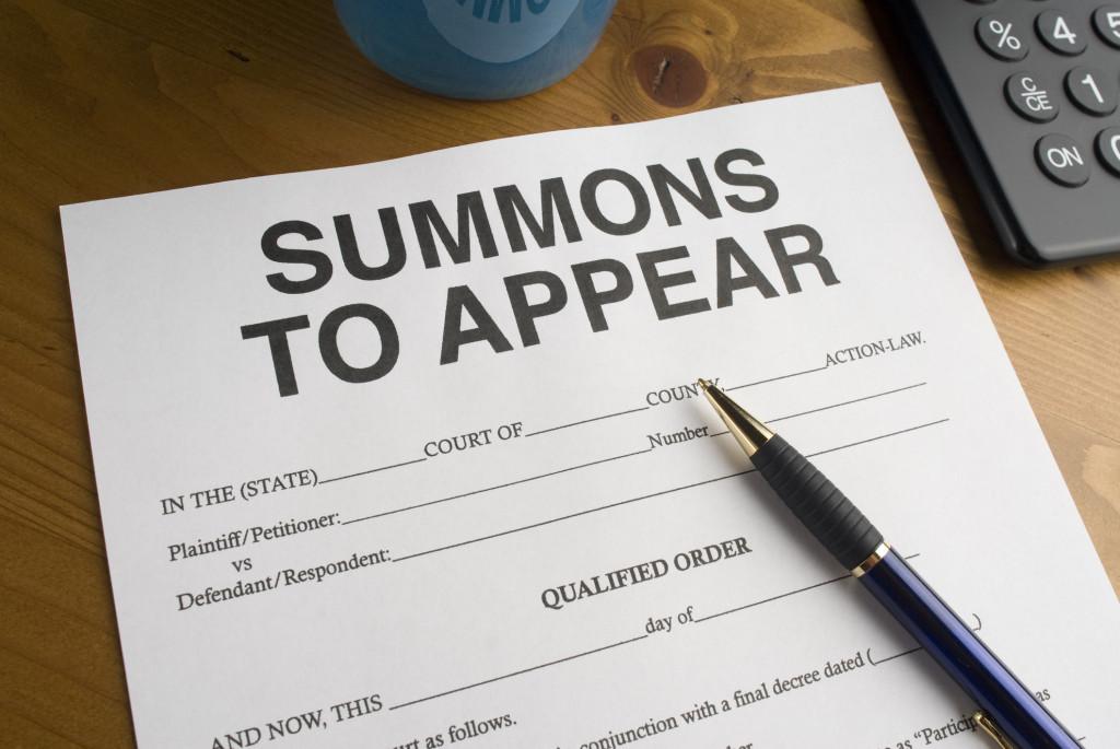 Court Summons in Aventura
